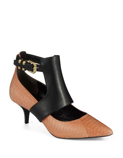 Kenneth Cole New York High Slung Heels by Kenneth Cole Makaren Kitten Heels In Brown Lyst