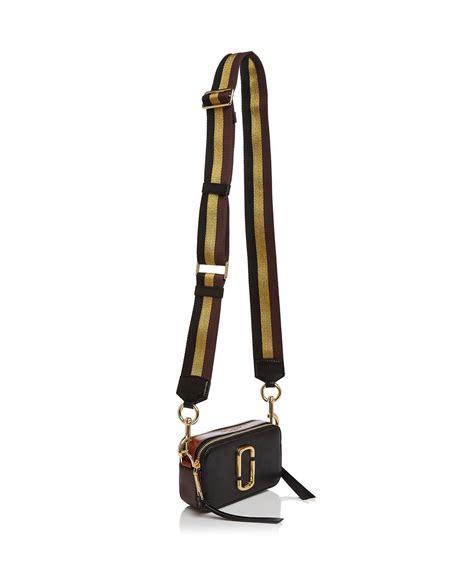 Marc Degrade Spray Bag by Lyst Marc D 233 Grad 233 Stripe Handbag In Metallic