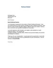 Ece Cover Letter by Sle Cover Letter