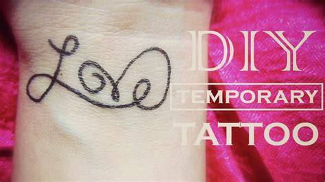 diy temporary tattoo love youtube
