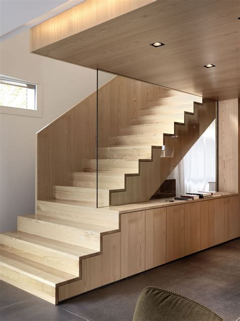 stairs design inside house by nimmrichter cda architects interior wood stairs design