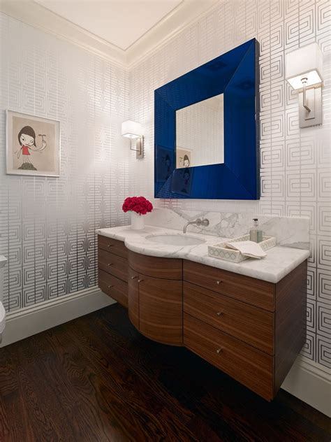blue bathroom mirror 12 framed bathroom mirrors designs and ideas