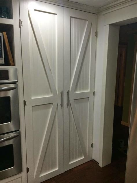 barn style cabinet doors one thrifty diy barn style pantry doors for the
