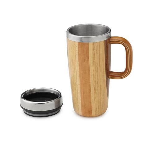 handmade mugs handmade wooden travel mug the green head