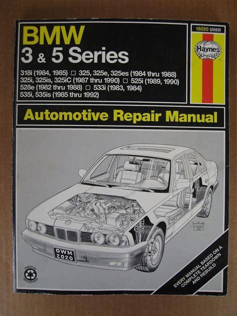 how to download repair manuals 1992 bmw 5 series user handbook buy haynes repair manual bmw 3 5 series 1984 thru 1992 various models motorcycle in agoura