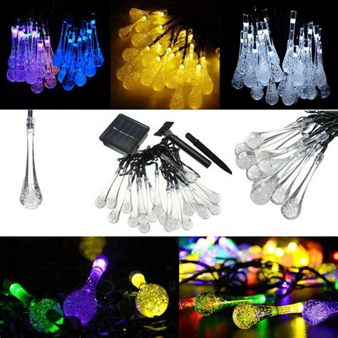 solar powered raindrop string lights solar powered raindrop string lights pocketpackage