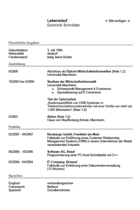 cv beispiel student dokument blogs