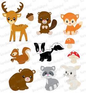 forest animals clip art set by karolisdigital on etsy 5