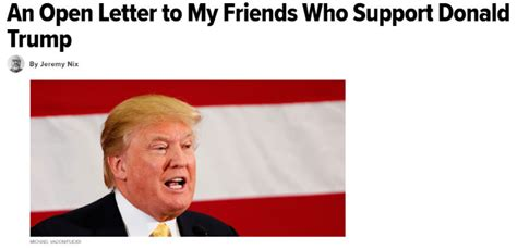 An Open Letter To My Friends Who Support Donald