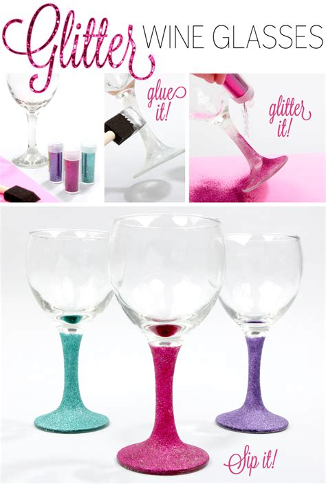 Diy Glasses diy glitter wine glasses lulus fashion