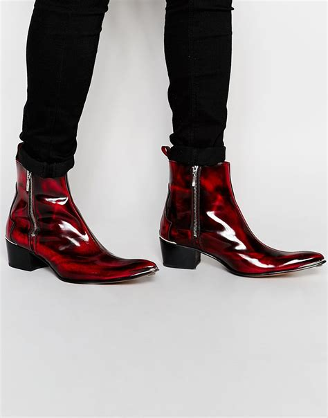 cuban heel mens boots lyst jeffery west zip cuban heel boots in for