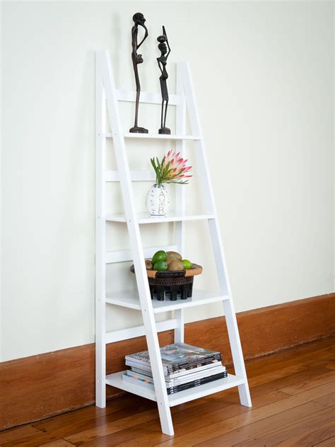 Ladder Shelfs by White Ladder Shelves Mocka Australia