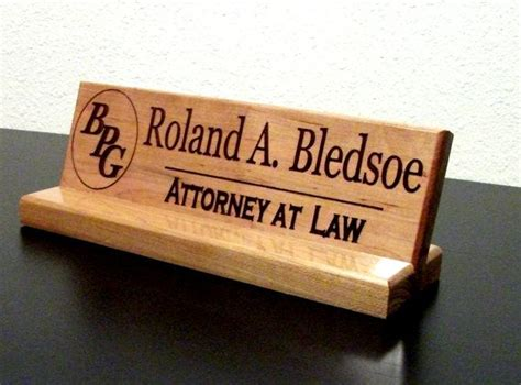 unique desk name plates name plate personalized wood sign office by