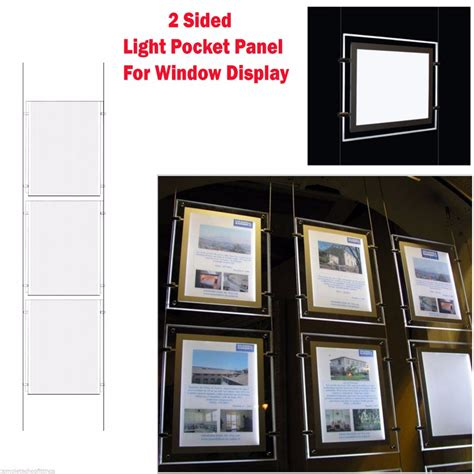 hanging light box display hanging a4 crystal led light box poster frame travel