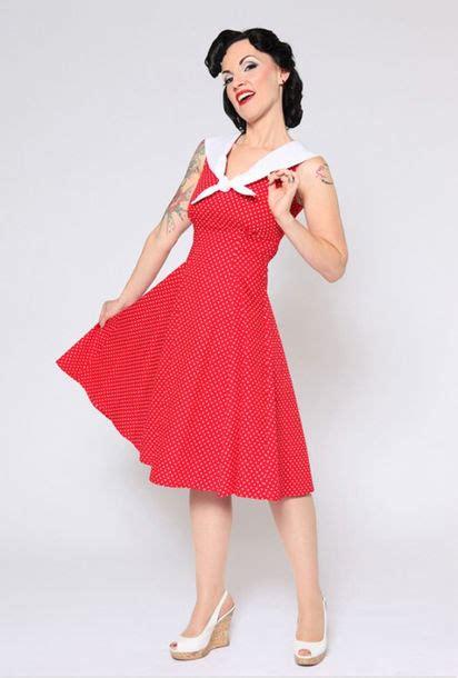 dress classic 50s polka dat dress vintage vintage
