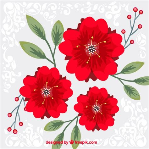 imagenes de rosas rojas vintage fondo de flores rojas descargar vectores gratis