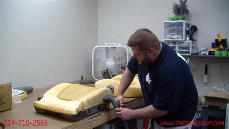How To Replace Car Seat Upholstery by Restoring Your Foam Cushion Using A Steamer