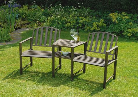 garden bench uk duo garden bench and table gardensite co uk