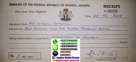 biaya membuat visa usa biaya visa kerja nigeria jangkar groups jasa
