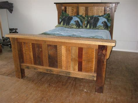 rustic twin bed frame rustic barn wood furniture twin size bed frame custom amish made in the usa ebay