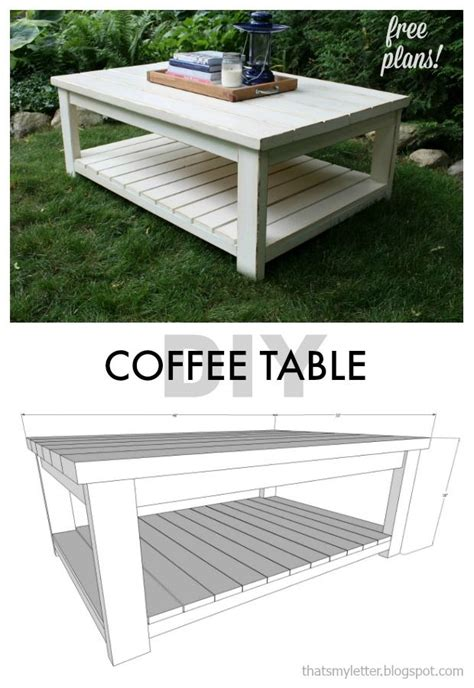Diy Coffee Table Plans Diy Coffee Table Free Plans Diy Furniture Projects Diy Coffee Table Coffee And Free