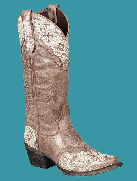 jeni lace boots s jeni lace cowboy boots brown