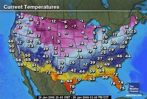 us weather map current temperatures the world s catalog of ideas