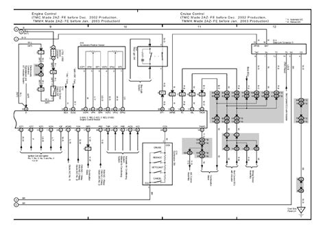 electric and cars manual 2001 toyota solara head up display repair guides overall electrical wiring diagram 2003 overall electrical wiring diagram