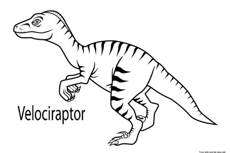 In Coloring Book free coloring pages of velociraptor