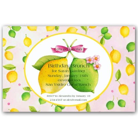 Baby Shower Napkins lemon lime love invitations paperstyle