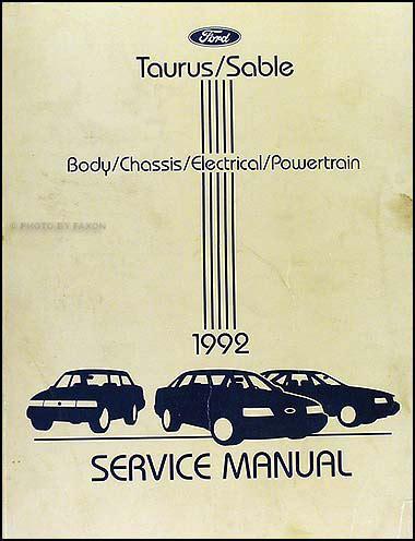 car maintenance manuals 1992 ford taurus navigation system 1992 ford taurus and mercury sable wiring diagram original