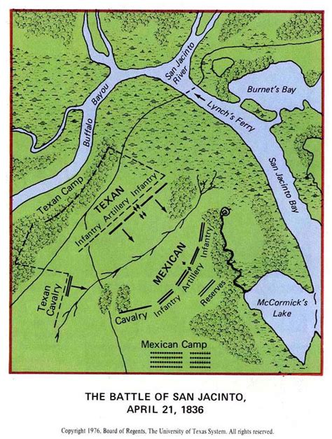 san jacinto texas map map of the battle of san jacinto april 21 1836
