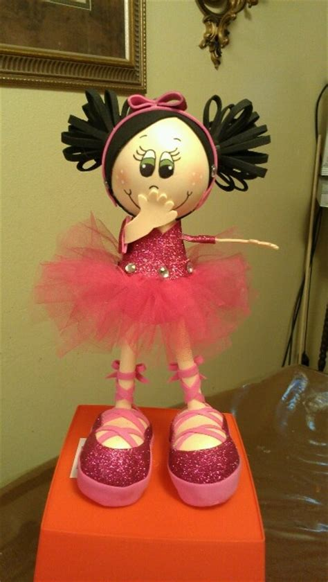 bailarina de vale en fomi fofucha bailarina mu 241 ecas de goma eva pinterest
