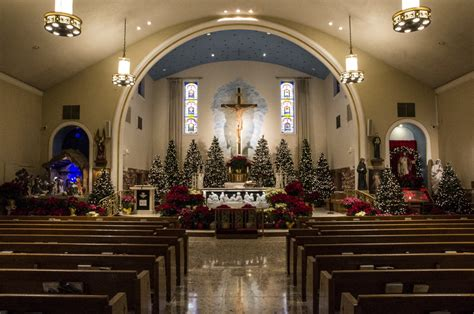 roman catholic church christmas decorations st michael the archangel catholic parish decorations clattr