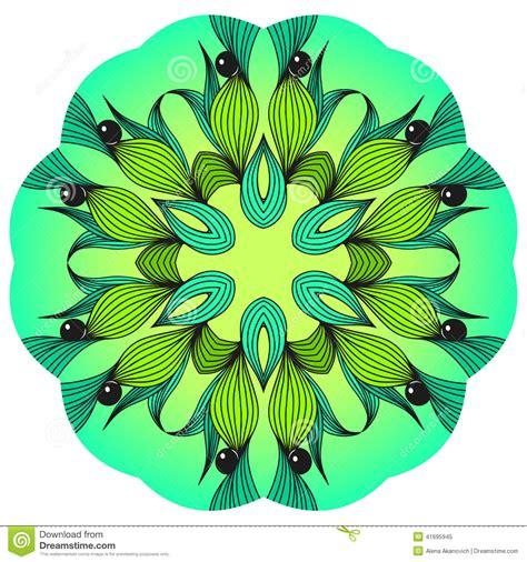 imagenes de mandalas verdes mandala verde e azul foto de stock imagem 41695945