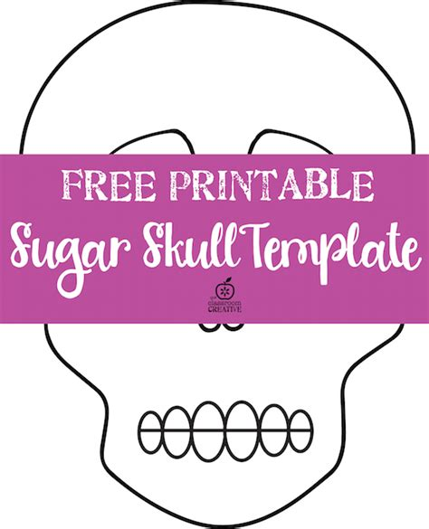 blank sugar skull template free day of the dead sugar skull template