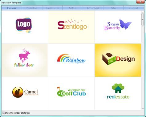 select template sothink logo maker professional