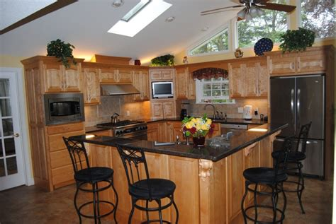 L Shaped Kitchen Islands With Seating Marvelous L Shaped Kitchen Island Designs With Seating And