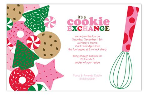 Its A Holiday Cookie Exchange Invitation Cookie Invitations Templates