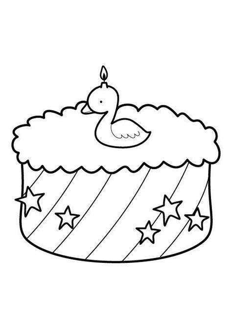 ausmalbild kuchen ausmalbild geburtstag kuchen zum zweiten geburtstag