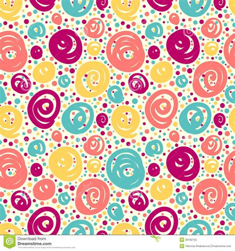Decorated Paper Designs seamless pattern with doodle dots stock vector illustration of retro fashion 36182755