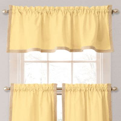 buy yellow valances for windows from bed bath beyond
