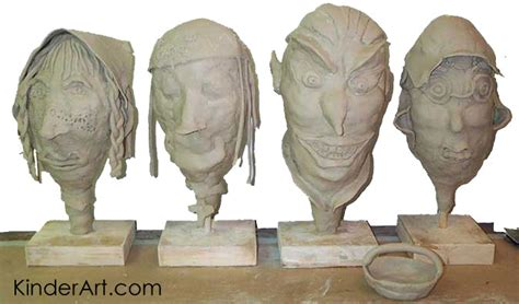 fire clay heads lesson plan sculpture activities