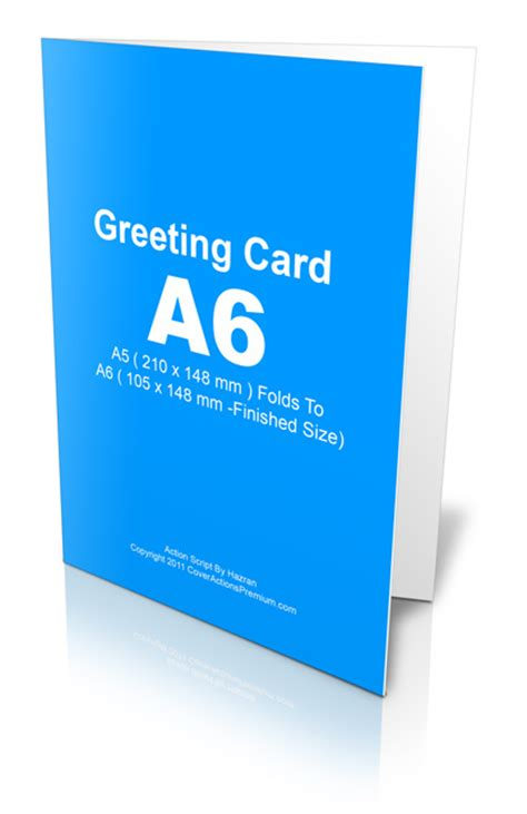 a6 card size template a6 greeting card script cover actions premium