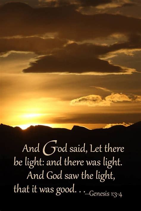 god said let there be light genesis 1 3 4 esv 3 and god said let there be light