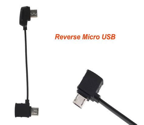 rc cable reversestandard micro usbtype  connector