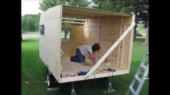 home built travel trailer plans diy cing trailers tent idea
