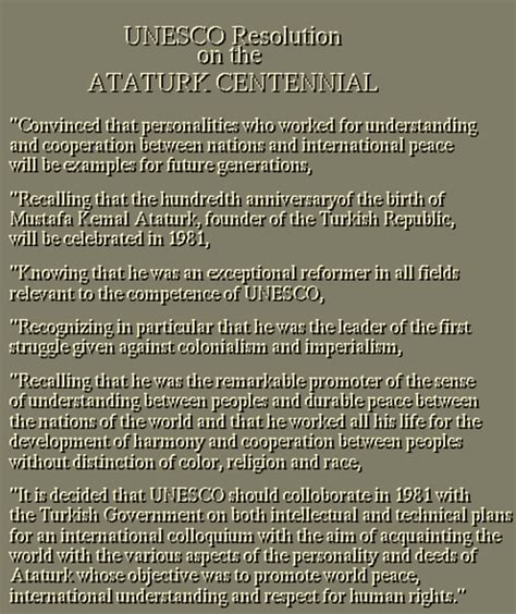 unesco resolution   ataturk centennial aydin sari