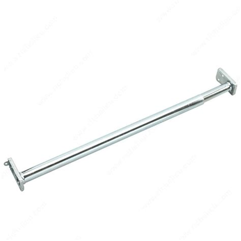 adjustable hanging rod with fixed ends zinc richelieu