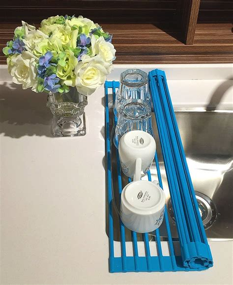 leasen  sink silicone roll  dish drying rack dish